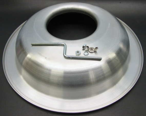 Drop Base Air Cleaner : Offset air cleaner base oval track street spun aluminum